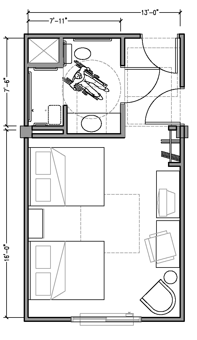 Appendix a for Ada compliant bathroom layout