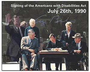 photograph of George H.W. Bush signing the ADA