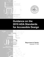 cover of Justice Department's Guidance on the 2010 Standards