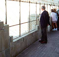 Photo: Man at Empire State observation area