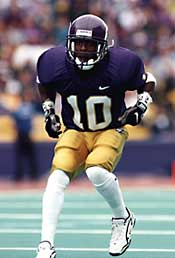 Toure Butler in football uniform