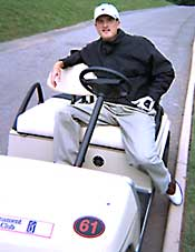 Casey Martin in his golf cart