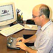using a TTY at desk