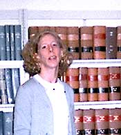 Jackie Okin in law school library