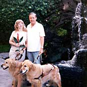 Jenine Stanley and husband at waterfall