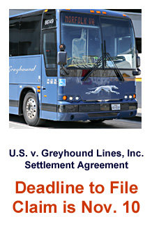 Greyhound Bus Lines Settlement Announcement