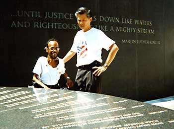 Bill Lann Lee visits Civil Rights Memorial