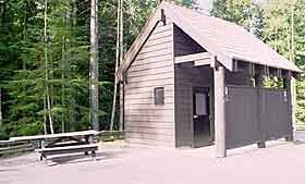 public toilet building at park