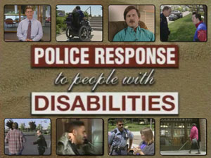 selected images from the video: Police Response to People with Disabilities