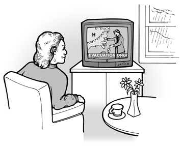 image of woman who is deaf watching television