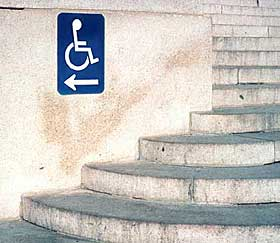 Directional Signage at steps