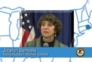 Image of Jocelyn Samuels from the Voices from the Olmstead Decision Video