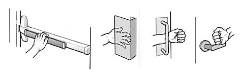 Examples of accessible door hardware