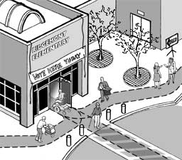 Accessible polling place