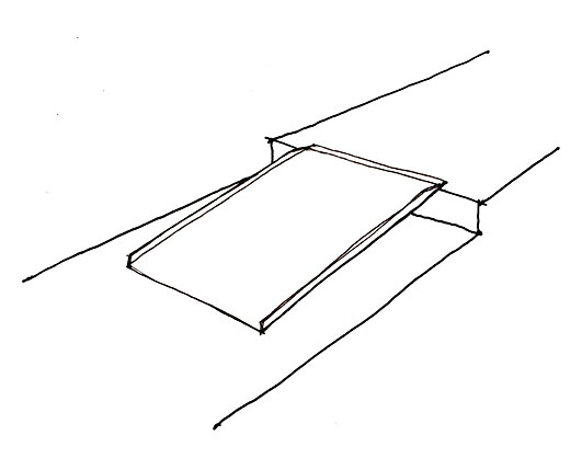Portable ramps without handrails can only be used for heights six inches or less and can provide access at a curb or low step. Portable ramps also can be placed flat to cover holes or gaps in a sidewalk