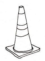 Traffic cones can be used to mark parking spaces, access aisles and passenger loading zones, to hold parking signs, and to warn of protruding objects