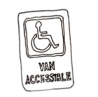 Van accessible parking signs should be used to designate van accessible parking locations