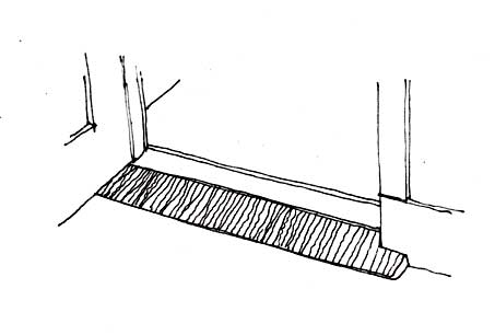 Wedges can provide access at thresholds and slight changes in level