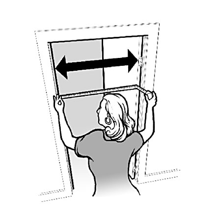 Measuring the clear door opening