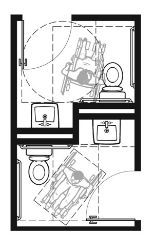 parison Of Single User Toilet Room Layouts on hotel bathroom 5