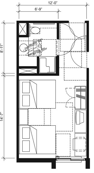 Floor Plan ADA Bathroom Dimensions